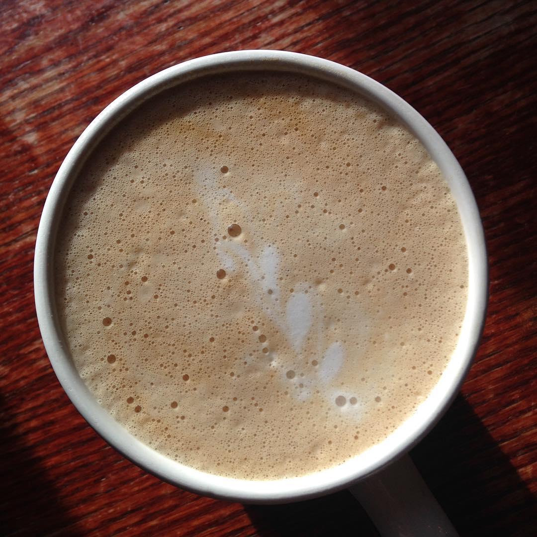 Big hot latte in Colorado Springs. Halloween tonight!