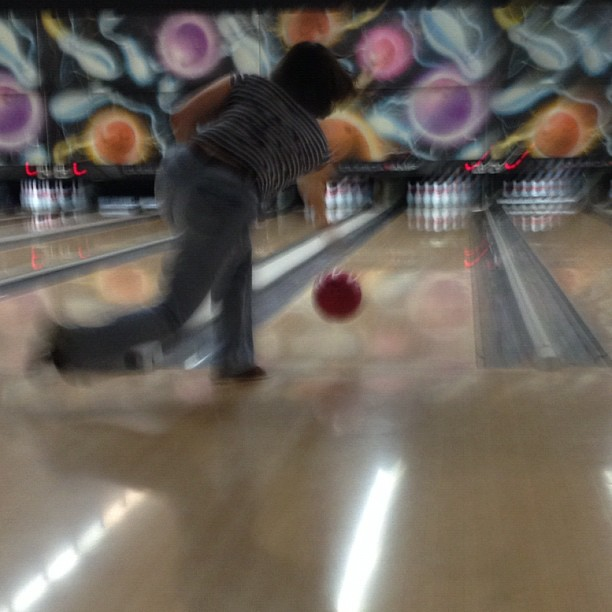 Bowling for Val's birthday