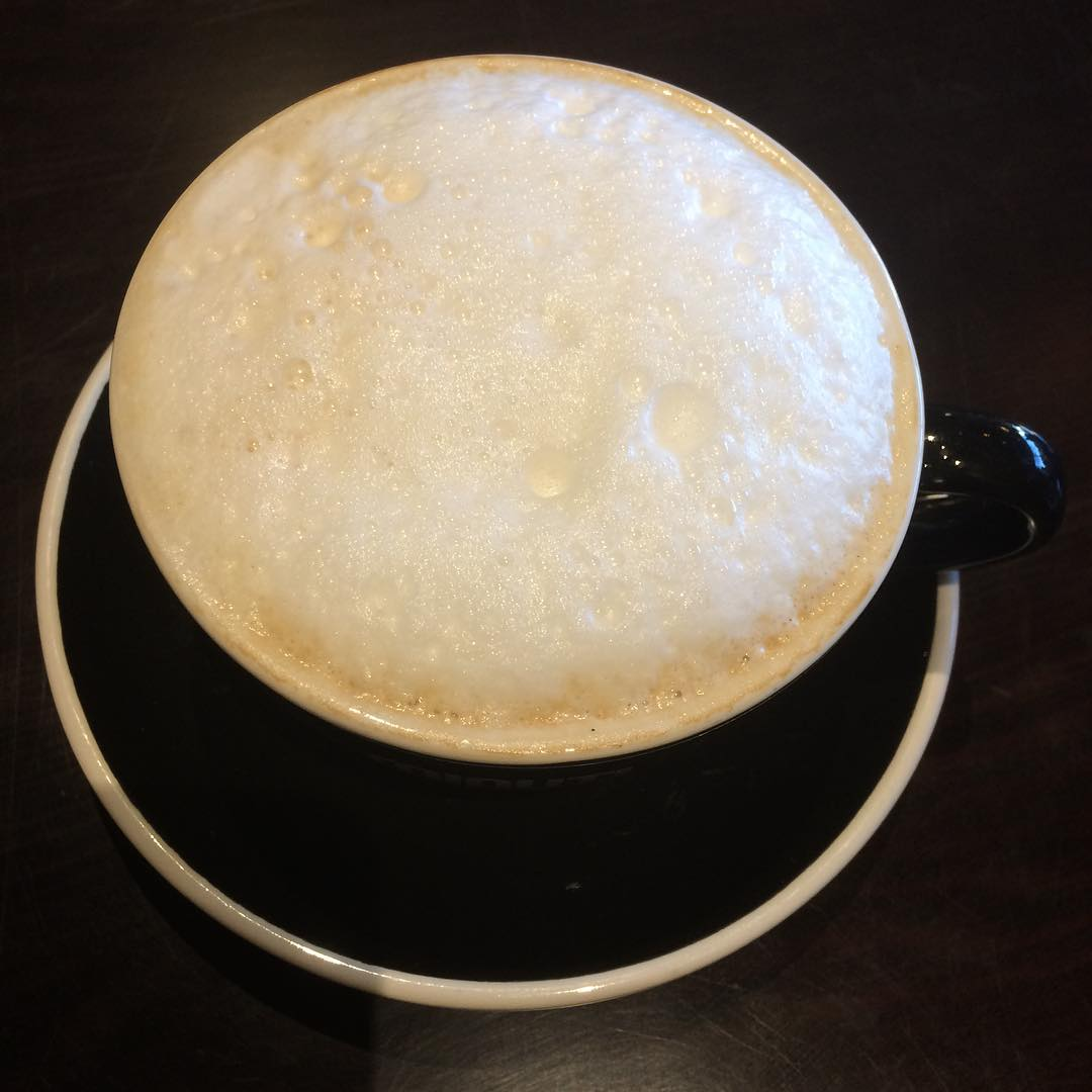 Houston cappuccino before my presentation to HOUCOM