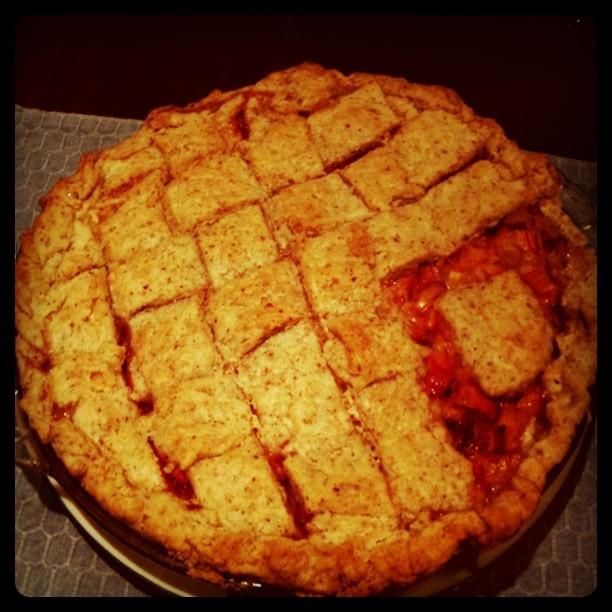 I made a pie. Strawberry rhubarb