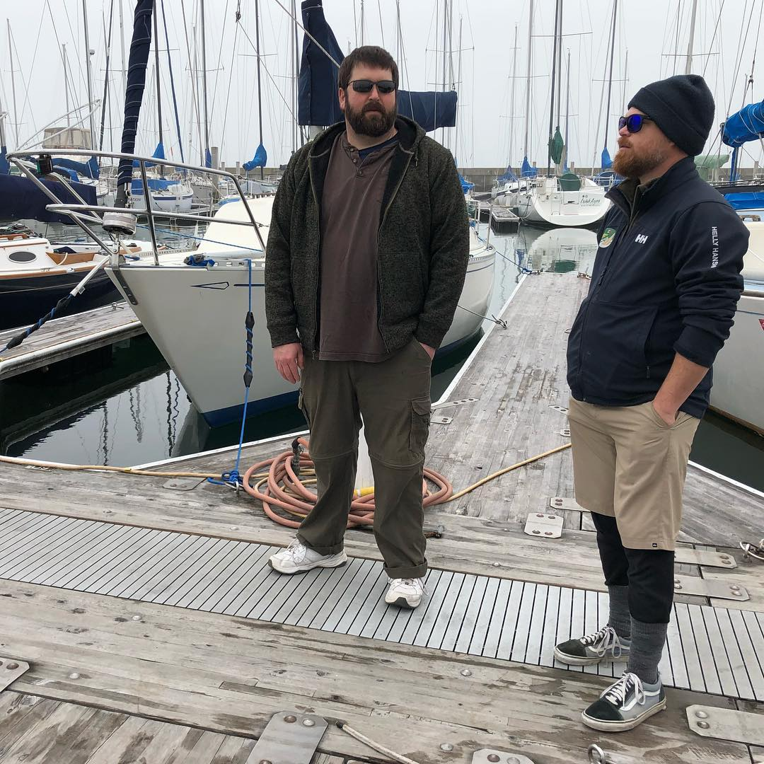 Jay and Silent Bob go for a sailboat ride. RYC Big Daddy day 2 on Stewball