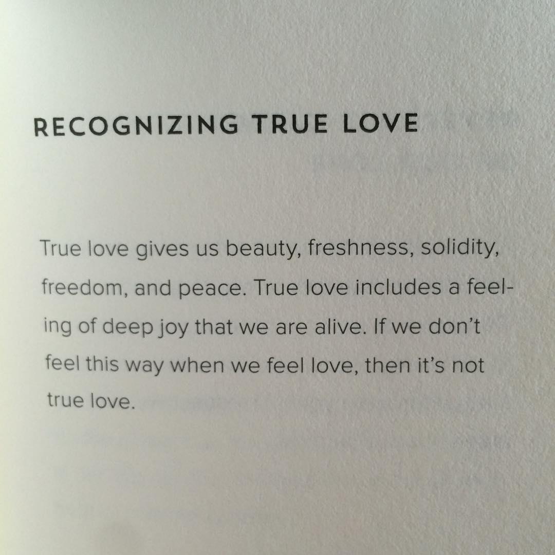 Recognizing true love