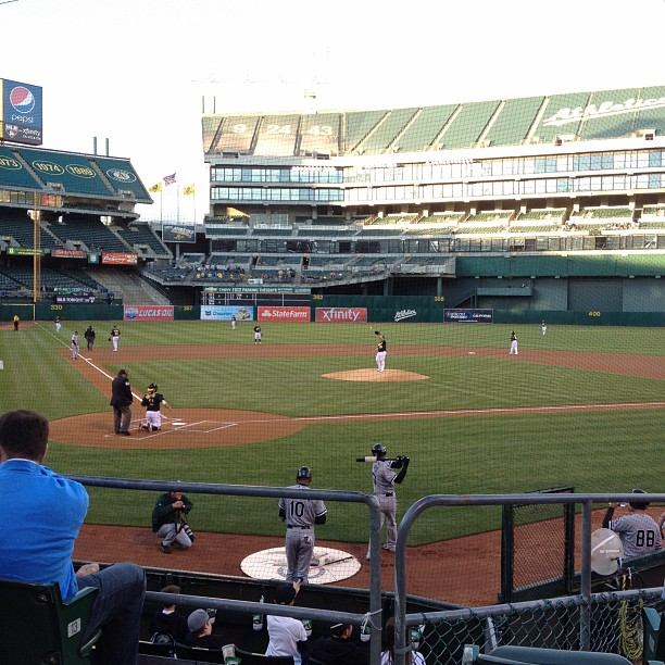 Right behind home plate