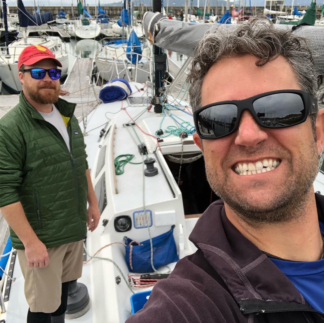 Stewball gettin ready for RYC club race around Angel Island and Treasure Island