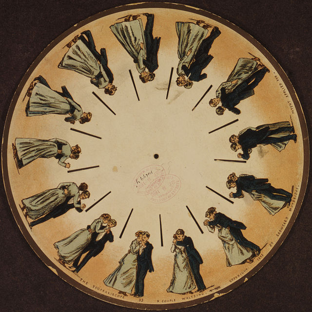 A phenakistoscope disc by Eadweard Muybridge (1893)