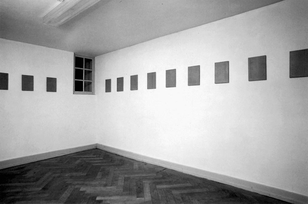 Gabriel Truan st maquina de escribir sobre tela (12x) 30 x 20 cm exp. m2 Vevey 1990