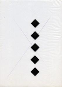 Gabriel Truan rombos tecnica mixta sobre papel vegetal a4 1991