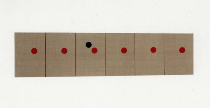 Gabriel Truan parcequejevoulaisetrepreciscommeunconstructiviste1 serigrafia sobre tela (6x) 30 x 20 cm 1991