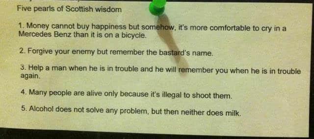 5 perle din înţelepciunea Scoţiană