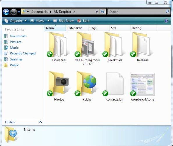 Foldere Dropbox