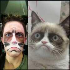 Machiaj funny pisica de Halloween