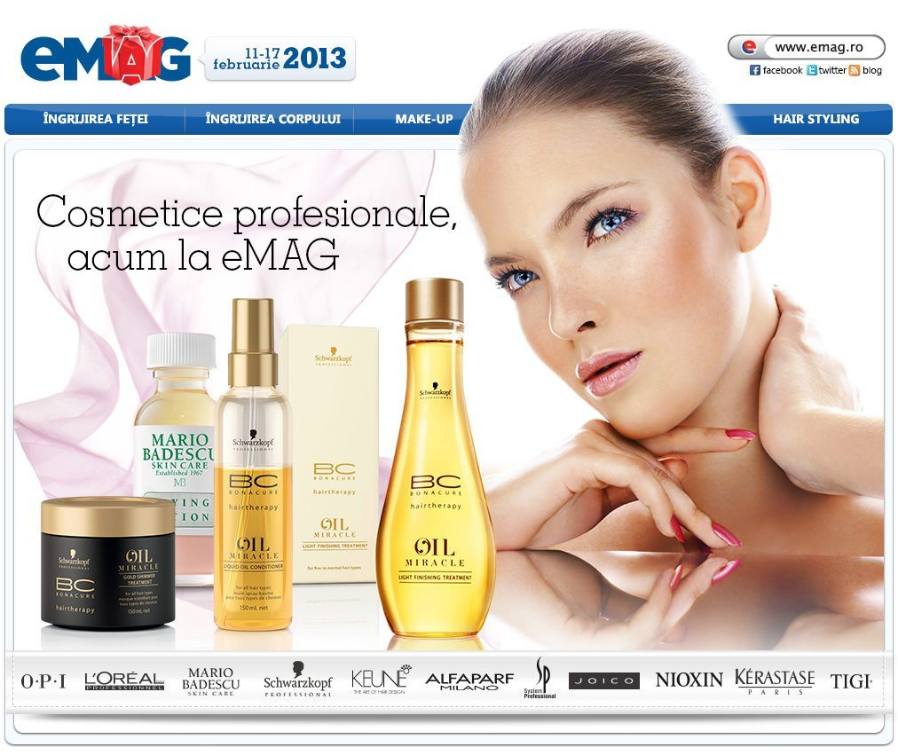 Cosmetice profesionale eMAG