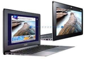 Laptop touchscreen