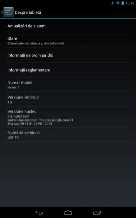 Nexus 7 2013 versiune soft