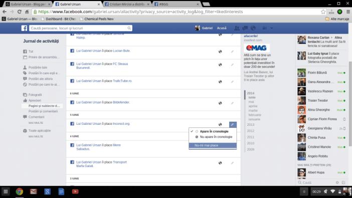Cum vezi pe Facebook toate paginile la care ai dat like