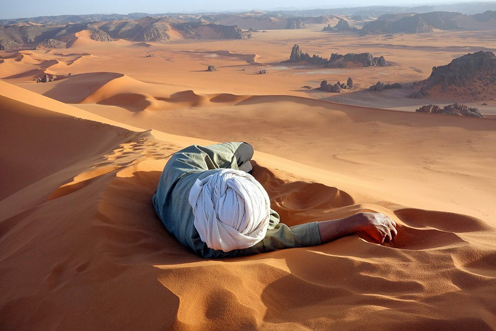 7 Merit A well earned rest in the Sahara-