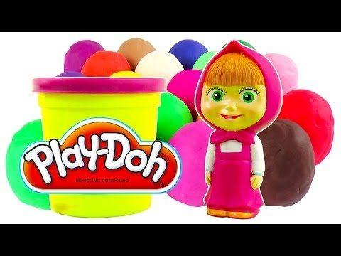 Masha i Medved PlayDoh Surprise eggs