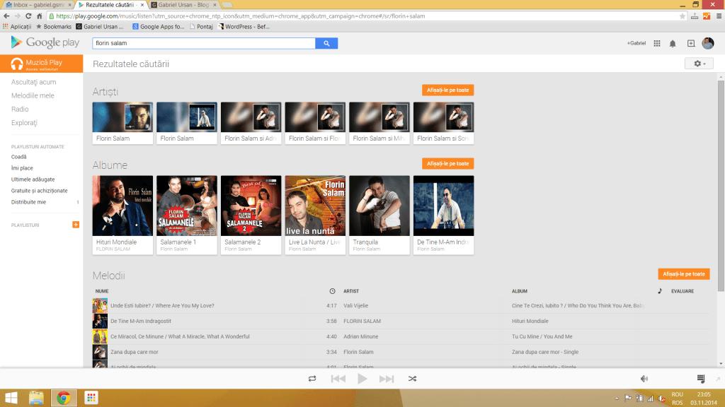 Florin Salam Google Music Play