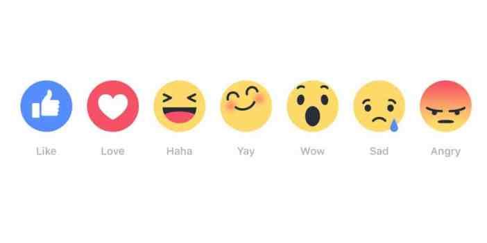 Noi butoane de reactie Facebook