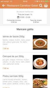 8. Navighează printre mâncărurile din categorii