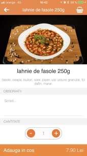 9. Selectează mâncarea dorită adaug-o în coș
