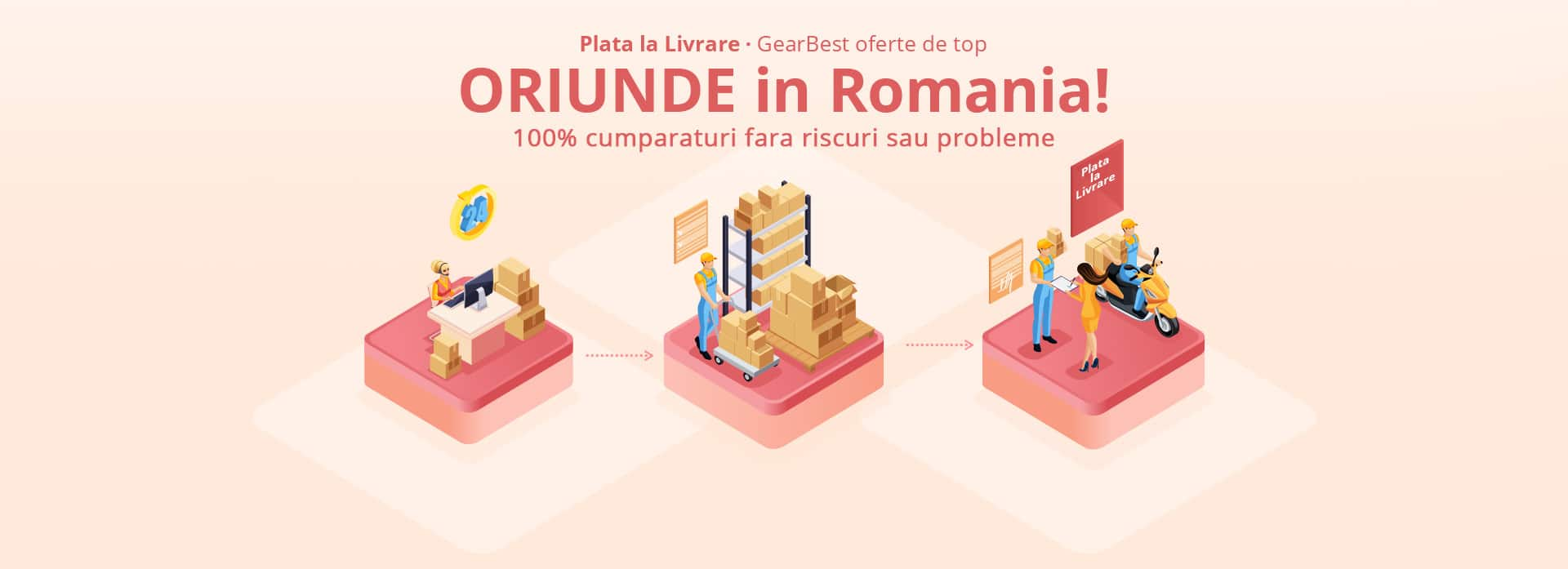 GearBest Plata la Livrare in Romania