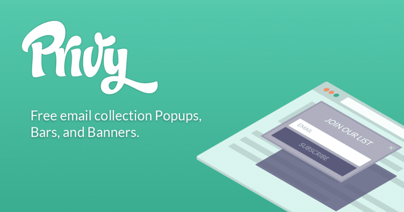 Popup email collector Privy