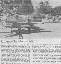 Según este recorte del diario La Nación, la semana aeroespacial de 1968 requirió que la Fuerza Aérea trasladara varios aviones por tierra entre el aeroparque metropolitano y el predio ferial de la Sociedad Rural Argentina en Palermo (foto cortesía: Pablo Potenze).