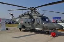 El AW139M puede ser empleado para aplicaciones de defensa y seguridad tales como vigilancia, transporte utilitario / de tropas, operaciones especiales, evacuación médica, búsqueda y salvamento, rescate en combate, comando y control y apoyo de fuego (foto: Michel Anciaux).