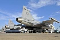 Gripens sobre Libia