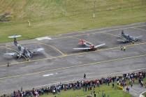 El público se apresta a presenciar la puesta en marcha de las distintas aeronaves presentes. (Foto: E. Brea)