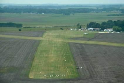 Vista aérea del Aeroclub Dolores (Foto: E. Brea)