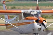 Uno de los Cessna 172 empleado para realizar vuelos de bautismo. (Foto: Esteban Brea)
