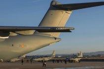 En una imagen cuatro producto de la factoría sevillana de Airbus (foto: José Luis Franco Laguna)