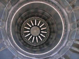 Post quemador del motor (foto: Fernando Puppio)