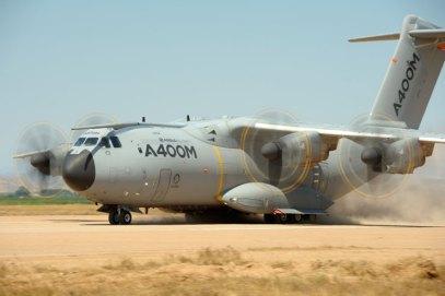 Prototipo del A400M rodando en el aeródromo de Ablitas (foto: Sergio Ruiz)