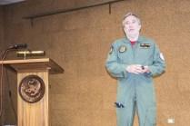 Coronel De la Torre Jefe del Ala 15 durante el briefing de prensa (foto: José Luis Franco Laguna).