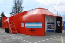 """Módulo del proyecto """"Cobertor Mi-17"""" desarrollado por la empresa ITP Argentina S.A. expuesto durante la muestra Defensa de la Industria. (Foto: Esteban Brea)"""