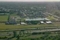 Vista aérea del Aeroclub Río de la Plata. (Foto: Esteban Brea)