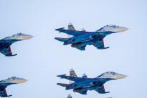 Su-27 de los Russian Knights (foto: Rostec)