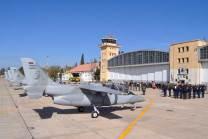 Línea de vuelo de los IA-63 Pampa II. (Foto: Andrés Rangugni)