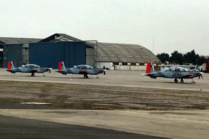 Los Texan argentinos en otra etapa de su largo recorrido por Latinoamérica (foto: FAA)
