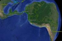 La ruta seguida por los Texan II desde Wichita (USA) hasta Códriba (Argentina) - (mapa: Carlos Ay)