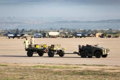 Plataforma Militar Sur de la Base Aérea de Zaragoza durante el Tormenta 2017 (foto: Miguel Ángel Blázquez Yubero)