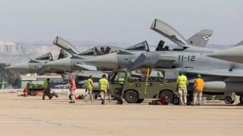 Eurofighters de del Ala 11 desplegados en Zaragoza(foto: Miguel Ángel Blázquez Yubero)