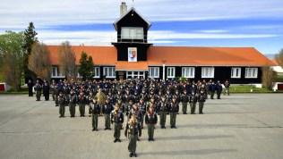 Retrato grupal de los aviadores navales desplegados a Tierra del Fuego (foto: Gaceta Marinera).