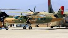 """El Ejército de Chile firmó contrato de servicios de mantenimiento y soporte logístico para sus aviones marca Cessna, entre los cuales se encuentran Caravans como el E-133 """"Vn. Osorno"""" (foto: Carlos Ay)."""