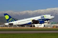 """Buscando oportunidades de ampliar su clientela al mercado aerocomercial, donde el modelo es muy popular entre operadores tales como Sky Airline, Enaer está en pleno proceso de evaluación para lograr la certificación como centro de mantenimiento autorizado para la familia Airbus A320"""" (foto: Carlos Ay)."""