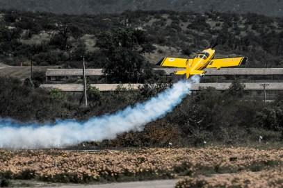 Inmediatamente después de decolar, Hernán Santibáñez inicia la trepada (foto: Cristian Castro).