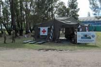 El Ejército Argentino estuvo presente con una muestra de material perteneciente al Hospital Militar de Bahía Blanca. (Foto: Lorenzo Borri)